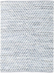 Hilda - Denim/Bianco Tappeto 170X240 Moderno Tessuto A Mano Beige/Azzurro (Cotone, India)