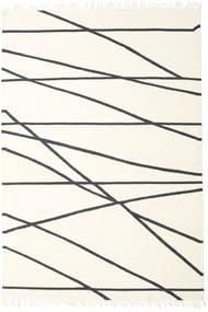 Cross Lines - Bianco Sporco/Nero Tappeto 250X350 Moderno Tessuto A Mano Beige/Bianco/Creme Grandi (Lana, India)