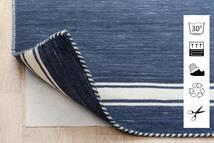 Anti Slip, Non-Woven Tappeto 80X300 Moderno Alfombra Pasillo Blu/Grigio Chiaro ( Belgio)