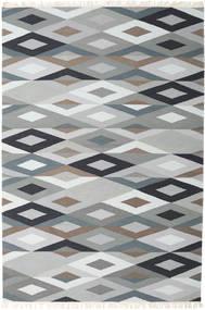Zimba - Grigio Tappeto 200X300 Moderno Tessuto A Mano Grigio Chiaro/Bianco/Creme (Lana, India)
