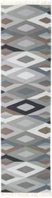 Zimba - Grigio Tappeto 80X300 Moderno Tessuto A Mano Alfombra Pasillo Grigio Chiaro/Grigio Scuro (Lana, India)