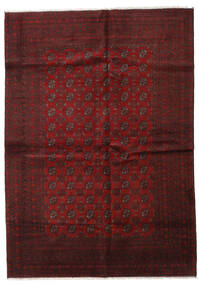 Afghan Tappeto 202X283 Orientale Fatto A Mano Rosso Scuro (Lana, Afghanistan)