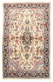 Kirman Tappeto 88X140 Orientale Fatto A Mano Marrone Chiaro/Beige (Lana, Persia/Iran)