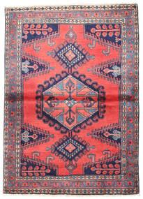 Wiss Tappeto 110X155 Orientale Fatto A Mano Porpora Scuro/Grigio Scuro (Lana, Persia/Iran)