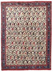 Afshar/Sirjan Tappeto 127X168 Orientale Fatto A Mano Marrone Scuro/Beige (Lana, Persia/Iran)