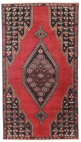 Saveh Patina Tappeto 98X176 Orientale Fatto A Mano Nero/Rosso Scuro (Lana, Persia/Iran)