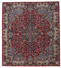Mashad Patina Tappeto 250X283 Orientale Fatto A Mano Rosso Scuro/Grigio Scuro Grandi (Lana, Persia/Iran)