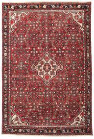 Hamadan Patina Tappeto 135X202 Orientale Fatto A Mano Marrone Scuro/Rosso (Lana, Persia/Iran)