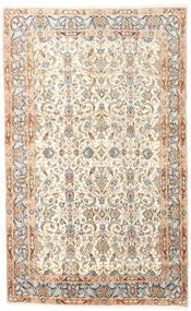 Kirman Tappeto 150X240 Orientale Fatto A Mano Beige/Rosa Chiaro (Lana, Persia/Iran)