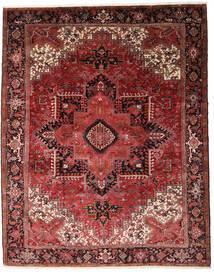 Heriz Tappeto 330X415 Orientale Fatto A Mano Rosso Scuro/Marrone Scuro Grandi (Lana, Persia/Iran)