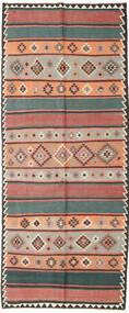 Kilim Fars Tappeto 155X380 Orientale Tessuto A Mano Alfombra Pasillo Rosso Scuro/Nero (Lana, Persia/Iran)