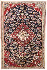 Yazd Tappeto 145X220 Orientale Fatto A Mano Porpora Scuro/Rosso Scuro (Lana, Persia/Iran)