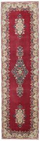 Kirman Patina Tappeto 90X325 Orientale Fatto A Mano Alfombra Pasillo Rosso Scuro/Beige (Lana, Persia/Iran)