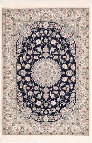 Nain 6La Tappeto 82X120 Orientale Fatto A Mano Grigio Chiaro/Beige (Lana/Seta, Persia/Iran)