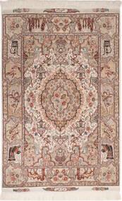 Tabriz 50 Raj Con Seta Tappeto 102X150 Orientale Fatto A Mano Rosso Scuro/Grigio Chiaro (Lana/Seta, Persia/Iran)