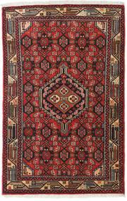 Asadabad Tappeto 79X127 Orientale Fatto A Mano Marrone Scuro/Rosso Scuro (Lana, Persia/Iran)