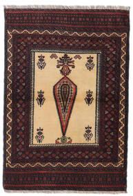 Beluch Tappeto 88X126 Orientale Fatto A Mano Rosso Scuro/Marrone Scuro (Lana, Persia/Iran)