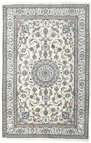 Nain Tappeto 198X304 Orientale Fatto A Mano Grigio Chiaro/Beige (Lana, Persia/Iran)
