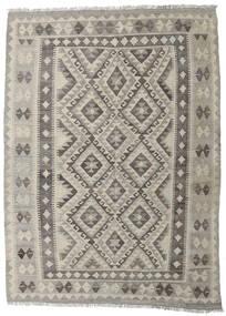 Kilim Afghan Old Style Tappeto 147X202 Orientale Tessuto A Mano Grigio Chiaro/Grigio Scuro (Lana, Afghanistan)