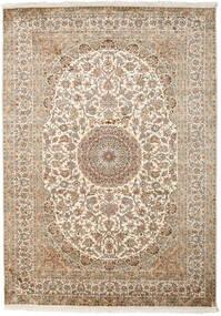 Cachemire Puri Di Seta Tappeto 175X249 Orientale Fatto A Mano Beige/Grigio Chiaro (Seta, India)