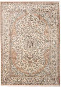 Cachemire Puri Di Seta Tappeto 173X243 Orientale Fatto A Mano Grigio Chiaro/Beige (Seta, India)