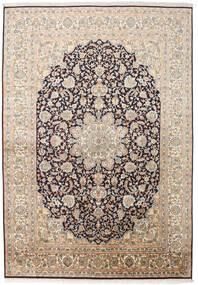 Cachemire Puri Di Seta Tappeto 169X244 Orientale Fatto A Mano Beige/Grigio Scuro (Seta, India)
