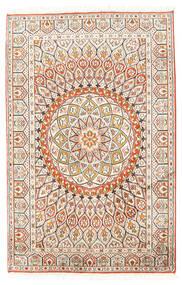 Cachemire Puri Di Seta Tappeto 80X124 Orientale Fatto A Mano Beige/Grigio Chiaro (Seta, India)