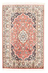 Cachemire Puri Di Seta Tappeto 63X97 Orientale Fatto A Mano Beige/Beige Scuro (Seta, India)
