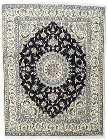 Nain Tappeto 200X245 Orientale Fatto A Mano Beige/Blu Scuro (Lana, Persia/Iran)