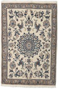 Nain Tappeto 91X134 Orientale Fatto A Mano Grigio Chiaro/Beige (Lana, Persia/Iran)