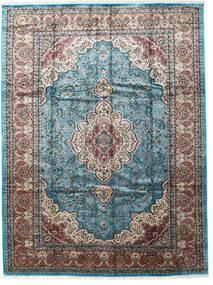 Cachemire Art. Di Seta Tappeto 276X370 Orientale Fatto A Mano Grigio Chiaro/Nero Grandi ( India)