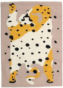 The Spotty Cat - Beige/Multi Tappeto 100X160 Moderno Grigio Chiaro/Beige (Lana, India)
