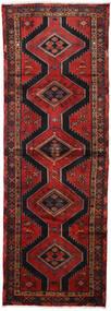 Hamadan Tappeto 100X290 Orientale Fatto A Mano Alfombra Pasillo Rosso Scuro/Nero (Lana, Persia/Iran)
