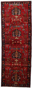 Hamadan Tappeto 108X310 Orientale Fatto A Mano Alfombra Pasillo Marrone Scuro/Rosso Scuro/Rosso (Lana, Persia/Iran)
