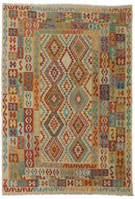 Kilim Afghan Old Style Tappeto 206X295 Orientale Tessuto A Mano Rosso Scuro/Marrone Chiaro (Lana, Afghanistan)