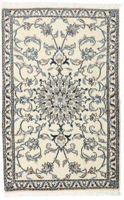 Nain Tappeto 88X140 Orientale Fatto A Mano Beige/Grigio Scuro (Lana, Persia/Iran)