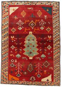Ghashghai Tappeto 145X207 Orientale Fatto A Mano Ruggine/Rosso/Rosso (Lana, Persia/Iran)
