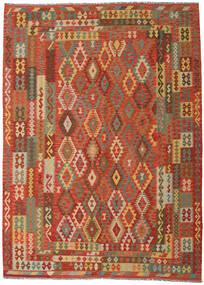 Kilim Afghan Old Style Tappeto 249X344 Orientale Tessuto A Mano Arancione/Beige Scuro (Lana, Afghanistan)