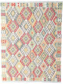 Kilim Afghan Old Style Tappeto 142X190 Orientale Tessuto A Mano Grigio Chiaro/Beige (Lana, Afghanistan)