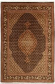 Tabriz 50 Raj Tappeto 204X301 Orientale Tessuto A Mano Marrone (Lana/Seta, Persia/Iran)