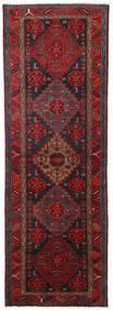 Hamadan Tappeto 104X309 Orientale Fatto A Mano Alfombra Pasillo Rosso Scuro/Nero (Lana, Persia/Iran)