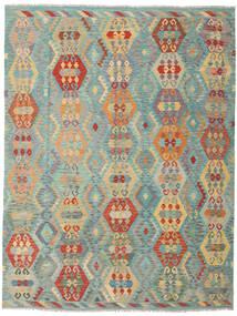 Kilim Afghan Old Style Tappeto 259X337 Orientale Tessuto A Mano Beige Scuro/Verde Chiaro Grandi (Lana, Afghanistan)