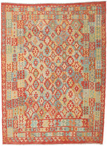 Kilim Afghan Old Style Tappeto 251X340 Orientale Tessuto A Mano Rosso/Beige Scuro Grandi (Lana, Afghanistan)