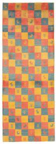 Gabbeh Persia Tappeto 78X207 Moderno Tessuto A Mano Alfombra Pasillo Arancione/Marrone Chiaro (Lana, Persia/Iran)