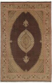 Tabriz 50 Raj Tappeto 202X311 Orientale Tessuto A Mano Marrone/Marrone Chiaro (Lana/Seta, Persia/Iran)