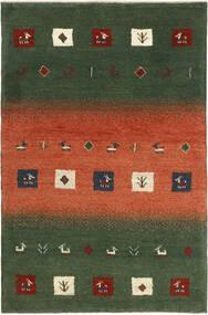 Gabbeh Persia Tappeto 84X132 Moderno Tessuto A Mano Verde Scuro/Arancione (Lana, Persia/Iran)