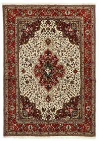 Tabriz 40 Raj Tappeto 147X206 Orientale Tessuto A Mano Marrone Scuro/Marrone Chiaro (Lana/Seta, Persia/Iran)