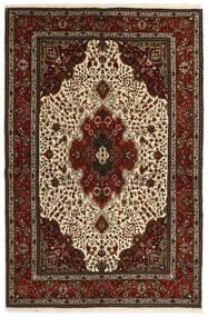 Tabriz 40 Raj Tappeto 151X221 Orientale Tessuto A Mano Marrone Scuro/Beige (Lana/Seta, Persia/Iran)