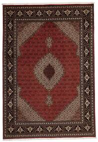 Tabriz 40 Raj Tappeto 205X296 Orientale Tessuto A Mano Rosso Scuro (Lana/Seta, Persia/Iran)