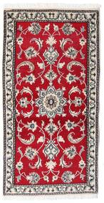 Nain Tappeto 70X139 Orientale Fatto A Mano Rosso/Grigio Chiaro (Lana, Persia/Iran)